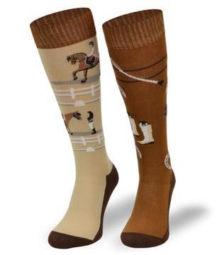 Farebné ponožky bavlnené na koni bavlny