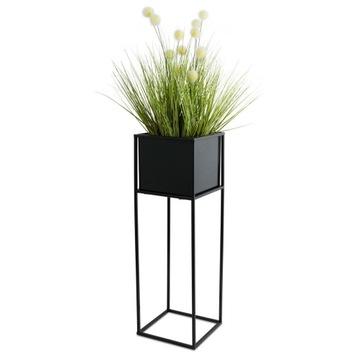 Kvetinový stojaci moderný stojan 70 cm čierny