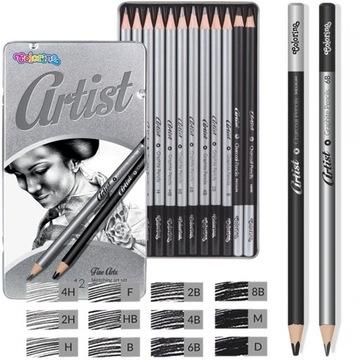 Colorino Sada ceruziek + kovové uhlie. 12ks