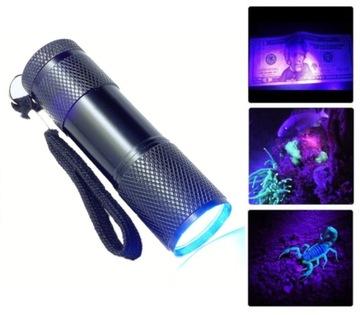 UV Torch LED Ultrafialové svetlo Ultrafialové