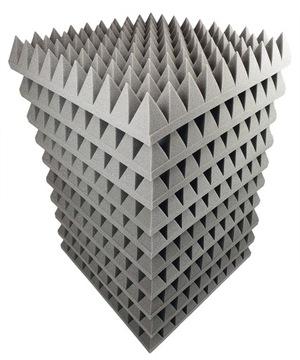 Akustické penové duplicitné panely 50x50 9 cm