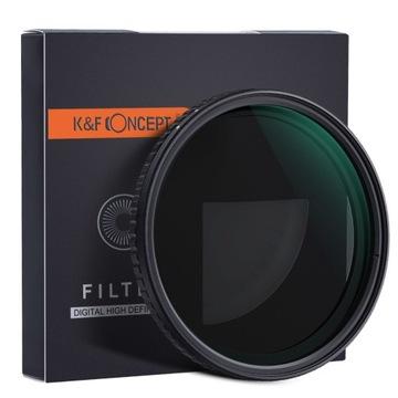 Úplný šedý filter Nastaviteľný 62mm ND2-ND32 K & F
