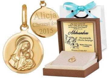 Zlatá medaila 333 Naša dáma darčekový rytý