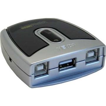 Atény 2-Port USB 2.0 Periférny spínač US221A