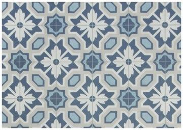 1,5 modrý PVC CARPET BOHO PATCHWORK DLÁNKY