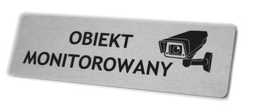 Nerezová doska - monitorovaný objekt -20x6cm
