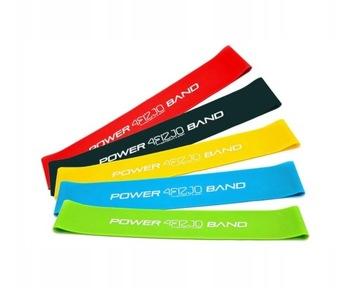 4FIZIA Nastavte 5 gum pre cvičenie Mini Band Fitness