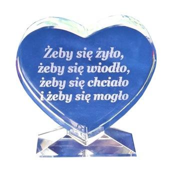 Crystal Heart Squeta s vaším textom