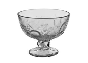 Zmrzlinový pohár s lisovanými listami 11 cm