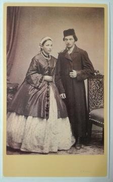 Pohľadnica Židia Mladý manželstvo Krieger 1860 SPK