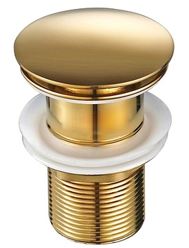 CLICK CLACK GOLD zátka do umývadla bez prepadu