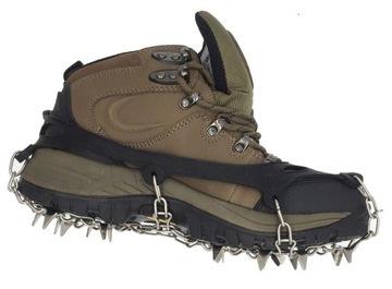 Topánky pre topánky XL reťaze Spikes Ice Raczki 19 Zuby