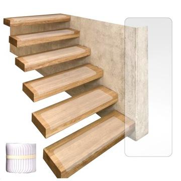 Prekrytie. Neplčikové schody. Transparentné 20x65