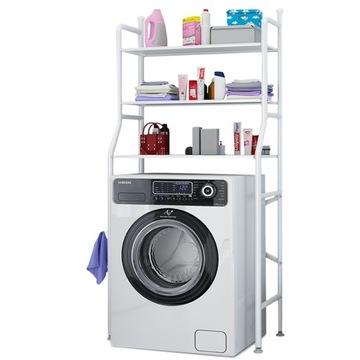 Kúpeľňová polica Skrinka cez práčku pre bielizeň