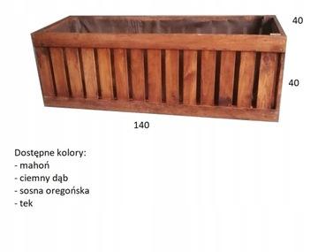 Drevený hrniec 140x40x40cm