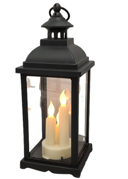 Lantern Lantern LED svietnik - čierny veľký