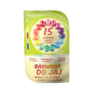 Farbivá pre vajcia veľkonočné vajíčka 15 odtiene farieb