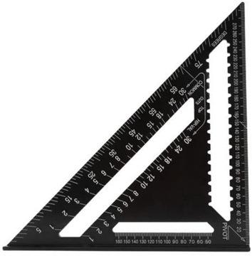 PRAVIDLO trojuholníkové čierne vybavenie 30 CM