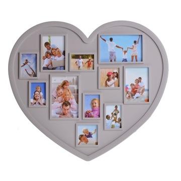 Foto rámček s AMO Valentína Veľké srdce Béžová