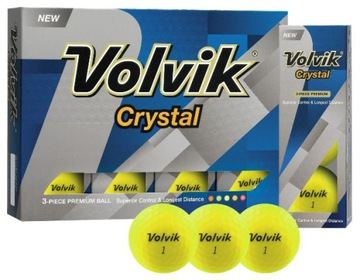 Golfové gule Volvik Crystal (žlté)