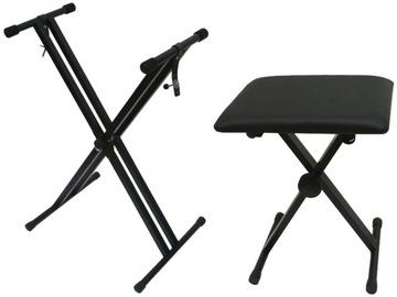 Statív pod klávesisou Double + Piano Bench + poznámky