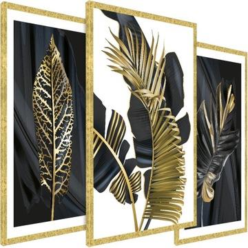 Moderný obrázok v zlatom ráme - 135/65 cm