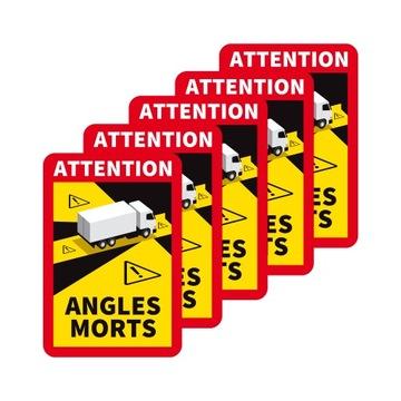 Nálepka Francúzsko Angles Morts Tir Magnet 5ks.