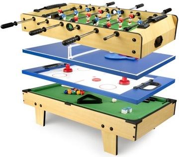 Multi hry Tabuľka 4in1 Tenis Biliard Hockey Futballer