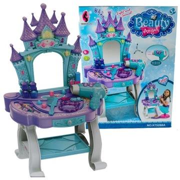 Toaletný stolík pre deti melódie hradnej princeznej + su
