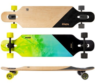 Skateboard Longboard Raven Fáza ABEC9