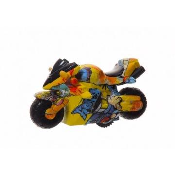 MOTOR RACING KOVOVÝ MOTOCYKL RACER GRAFIT