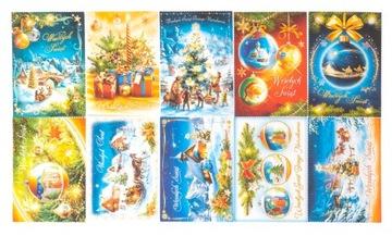 10ks vianočné pohľadnice vianočné karty