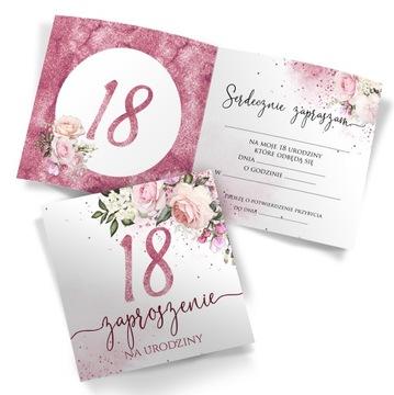 Pozvánky na 18. narodeniny 10ks Kvetinové obálky