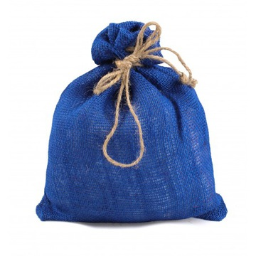 Jutová taška, modrá, 26x30 cm