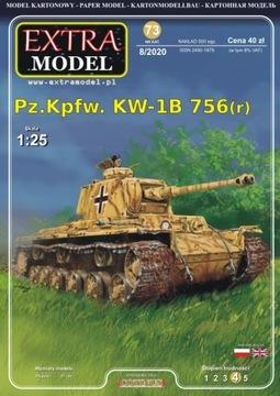 Extra modelová nádrž ťažké pz.kpfw. Kw-1b 756 (R)