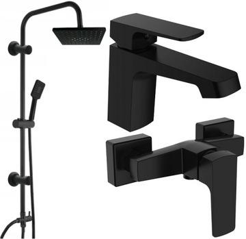Pláštenka sprchový mixér čierny