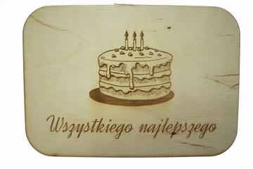 Obojstranná drevená doska Torta RÔZNE PRÍLEŽITOSTI