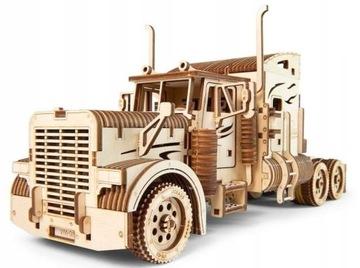 Upears Drevený model Puzzle 3D Traktor VM-03