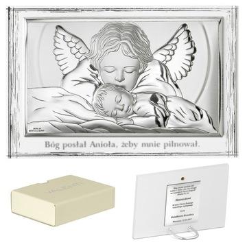 XXL Obrázok Silver Angel Guardian BAPTISM PR478