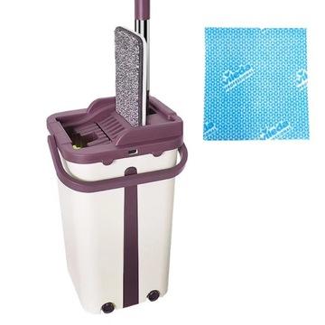 Mop Flat Rotary Two-Chamber Bucket + Vileda