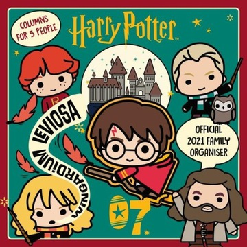 Nástenný kalendár 2021 Harry Potter Rodinný plánovač