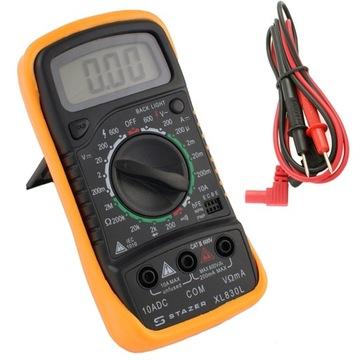 Profesionálny merač prúdu LCD digitálny multimetr