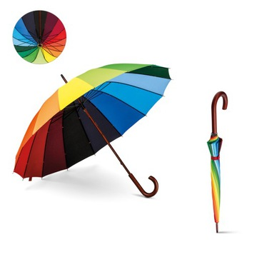 Umbrella 16 Panely Farebné dúhové manuálne