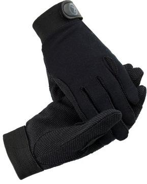 Jazdecké rukavice Horza Basic Black R.M