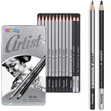Súbor ceruziek na kreslenie ceruzky skicovanie