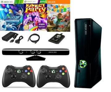 Xbox 360 Slim Disk 500GB New Pad Kinect Deti