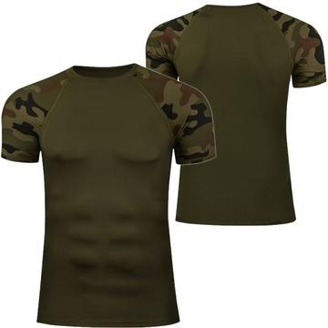 Termoaktívne tričko Khaki Moro taktické ASG L