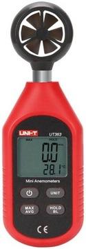 Meranie teploty veterného merača UNI-T UT363