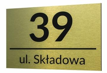 Štítok HLINÍKOVÁ ADRESA značka Domové číslo