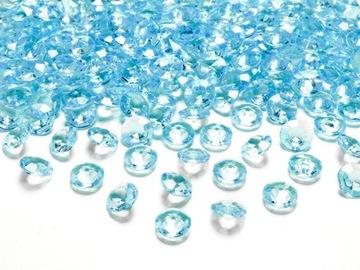 Konfety diamantové, tyrkysové, 12 mm, 100 ks
